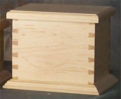 dovetail maple wood urn for pet memorial pet cremation