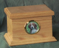 traditional oak wood urn for pet memorial pet cremation