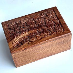 wood urn memorial for pets